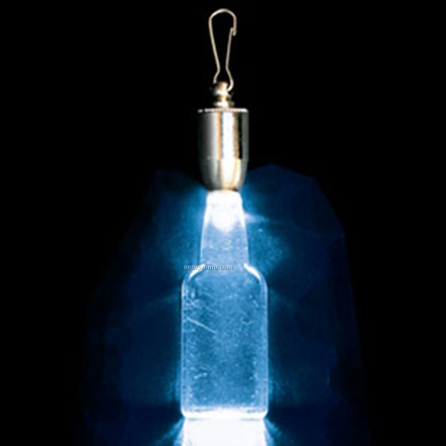 light up pendant with clip flat faced bottle blue led. Black Bedroom Furniture Sets. Home Design Ideas