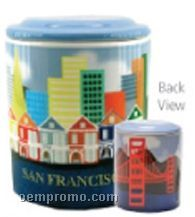 San Francisco Regular Ceramic Cookie Keeper Jar (Custom Lid)