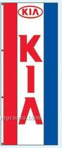 Single Face Dealer Free Flying Drape Flags - Kia