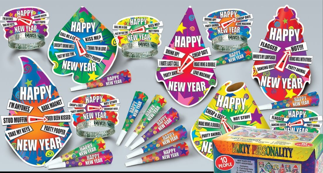 The Party Personality New Year's Assortment For 10