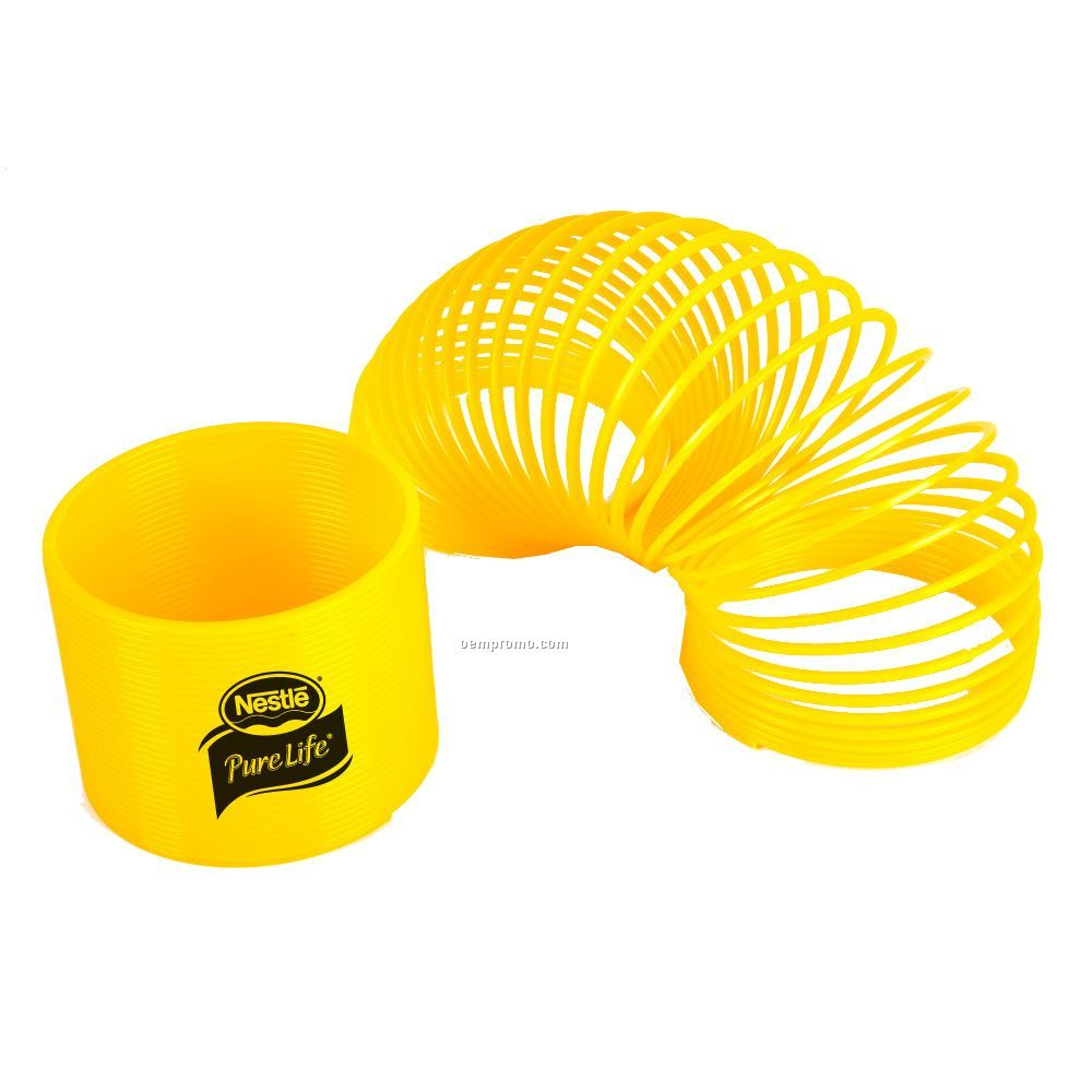 Yellow Coil Puzzle Spring