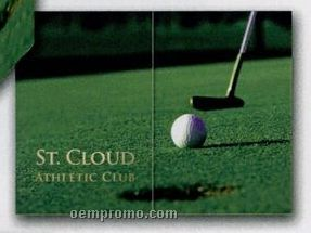"Horizontal Golf Gatefold Event Folder (5""X7"")"