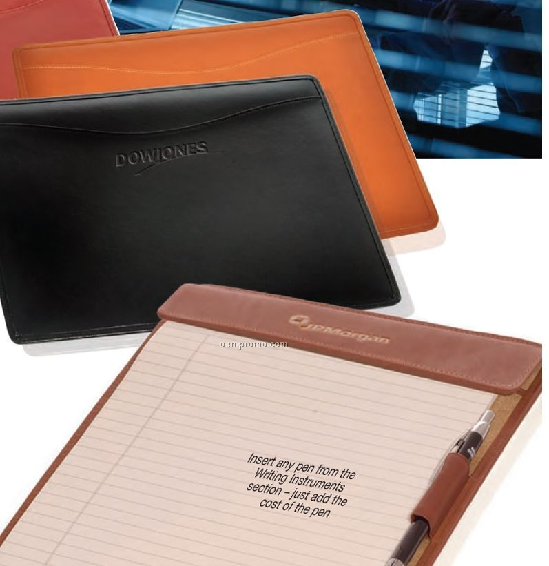 Large Cowhide Wall Street Writing Tablet
