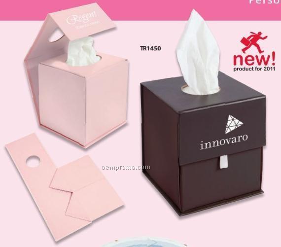 Origami Folding Tissue Container