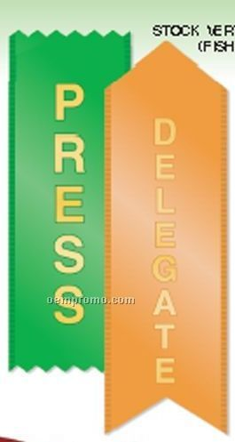 """Vertical Stock Ribbon (Fourth Place) (1-5/8""""X6"""")"""
