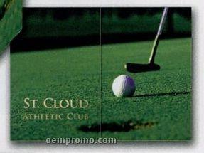 "Blank Horizontal Golf Gatefold Event Folder (5""X7"")"