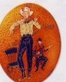 Fiddler Cloisonne Medallion Bolo Tie