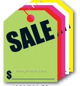 "V-t Fluorescent Mirror Hang Tag - Sale (8 1/2""X11 1/2"")"