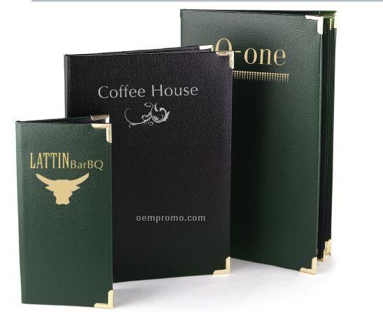"Davenport Sturdite Menu Cover - Four View/Book Style (4 1/4""X11"")"
