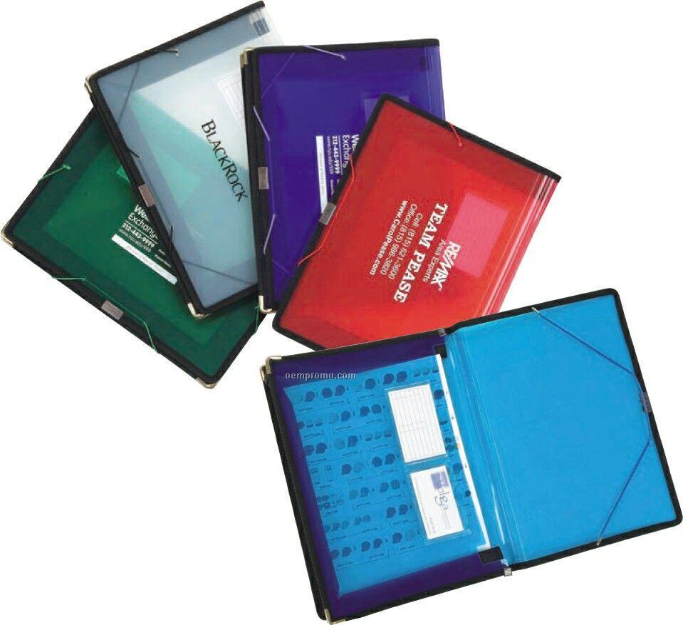 "Pocket Folder Portfolio With 3"" Fabric Gusset"