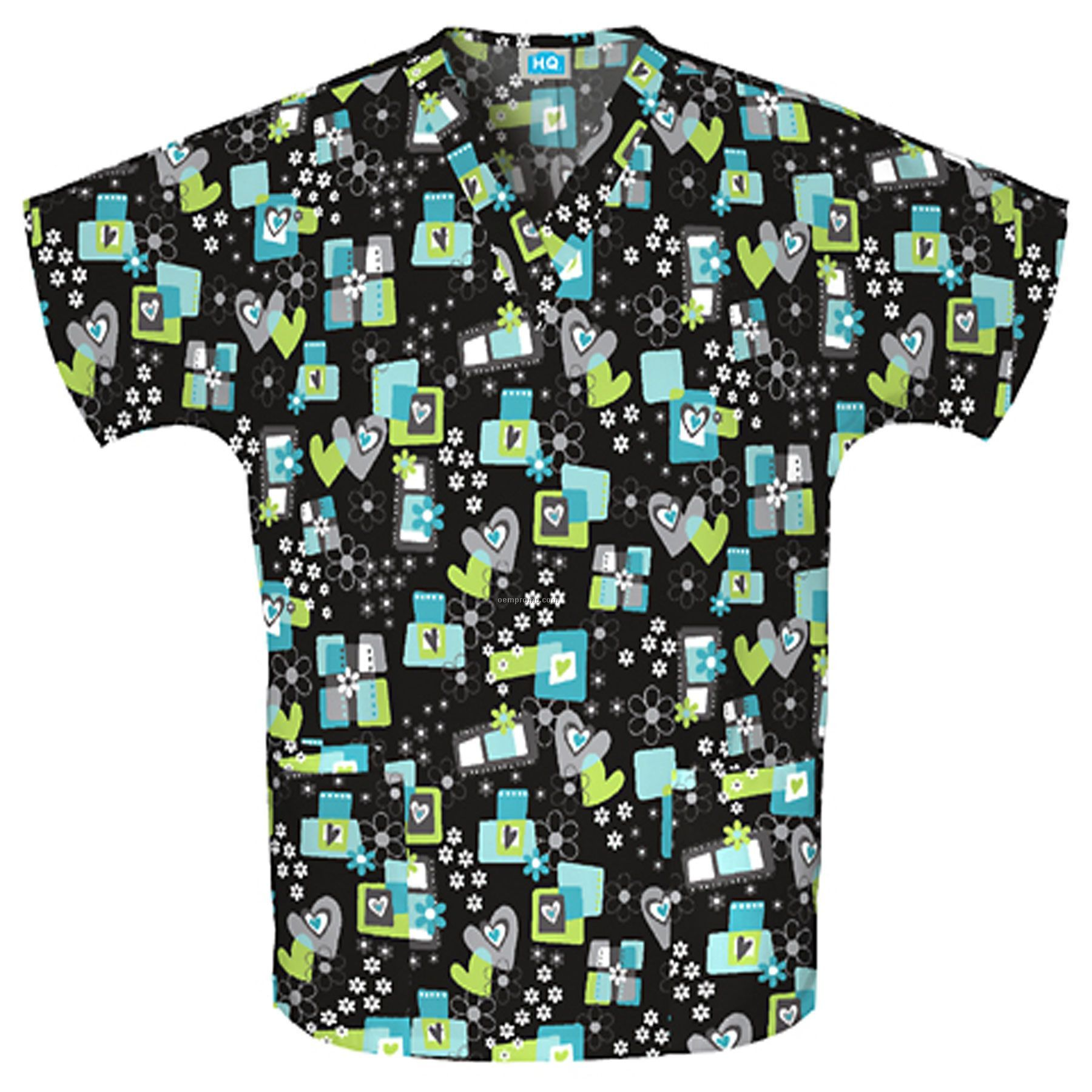 Unisex Two Pocket Top (Amour More More Print)