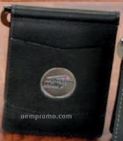Designer Leather Swing Bar Money Clip