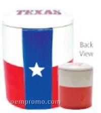 Texas Flag Jumbo Ceramic Cookie Keeper Jar (Custom Lid)
