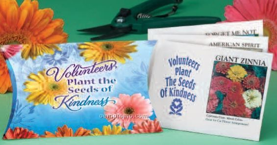 Volunteers Plant The Seeds Of Kindness Pillowbox W/ Seed Packets