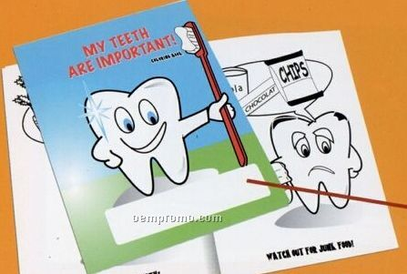 Dentist Coloring Book W/ Stock Cover & Stock Coloring Images