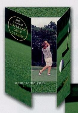 """Blank Vertical Golf Gatefold Event Folder (5""""X7"""")"""