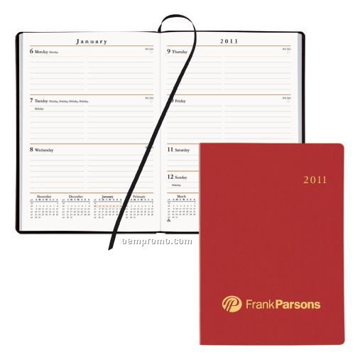 Portable Weekly Desk Planner W/ Flexhide Cover