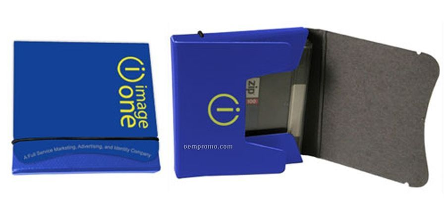 "Recycled Fiberboard Media Portfolio Or Box W/ Elastic (4.5""X4.25""X0.75"")"