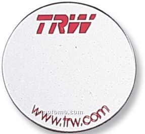 "Round Acrylic Mirror Button/ Magnet (2 1/4"")"
