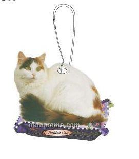 Turkish Van Cat Zipper Pull