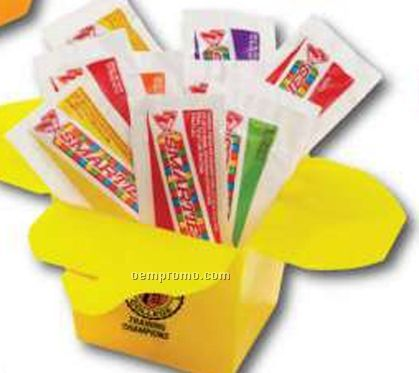 10 Piece Smarties Candy W/ Chinese Style Promo To Go Container