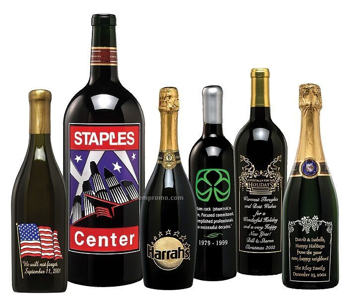 California Coastal Cabernet Wine (Etched W/ 4 Colors)