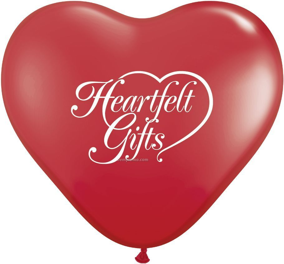 """Giant Heart Latex Standard Colors Balloons - Printed 1-side/1-color (36"""")"""