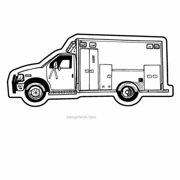 Stock Shape Ambulance Recycled Magnet