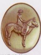 Western Rider High Relief Medallion Bolo Tie