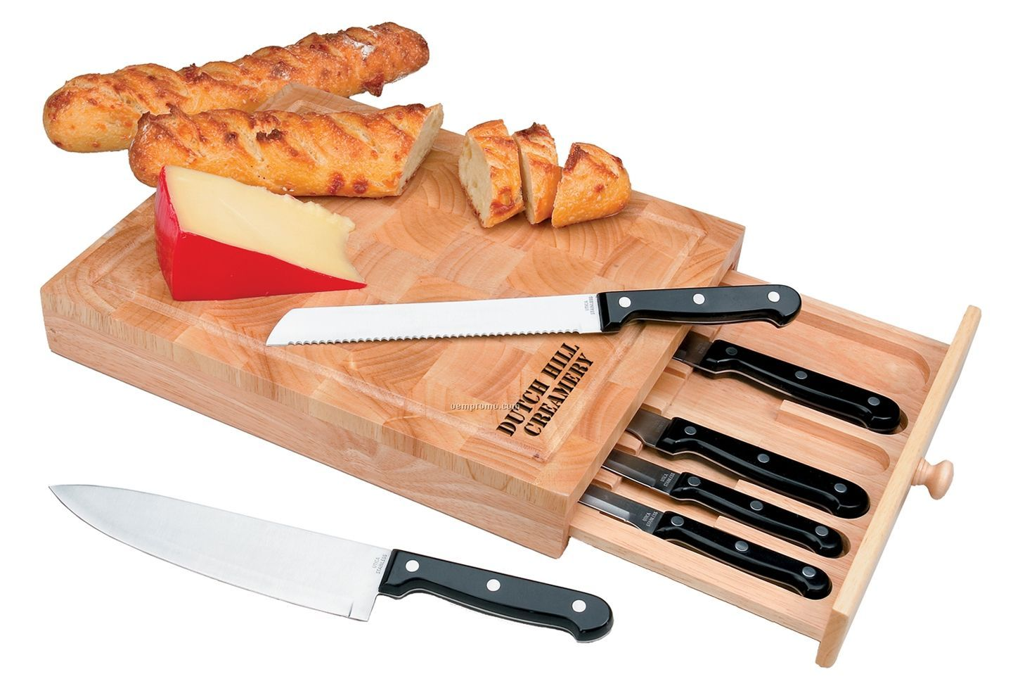 6 Piece Cutlery Set With Drawer Cutting Board