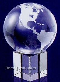 "Globe On Clear Base (6""X4 3/8""X4 3/8"")"