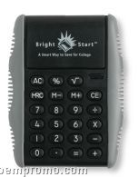 Kinetic Calculator W/ Rubber Grip Sides & Flip Stand (Black)