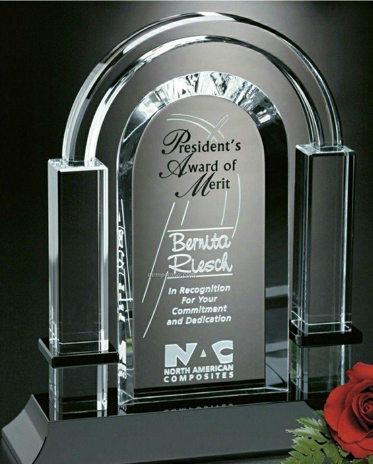 "Sable Gallery Crystal Biltmore Award (8"")"