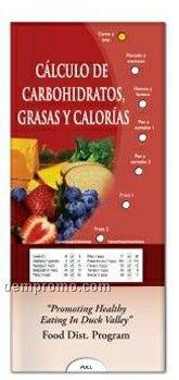 Spanish Pocket Slider Chart - Calculating Carbs, Fat & Calories