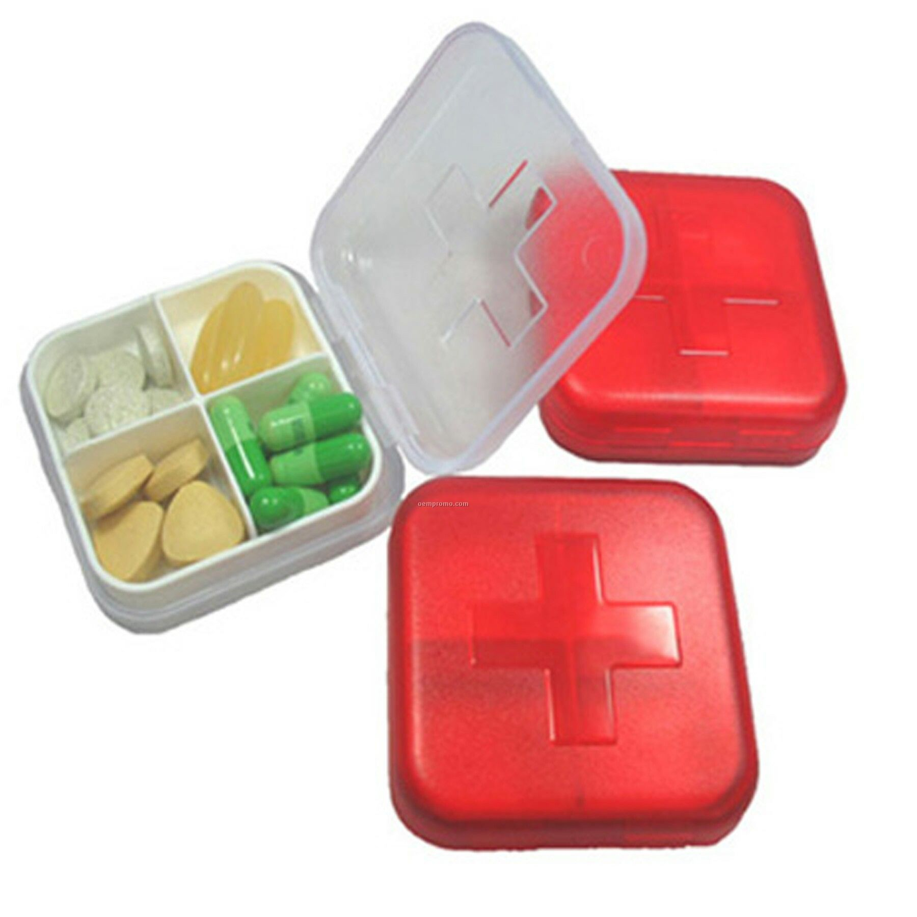 Swiss Four Grid Pill Box