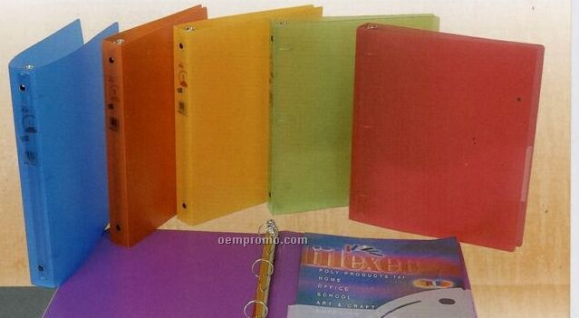 """Assorted Pack Frosted 3-ring Binder With 1 1/2"""" Ring"""