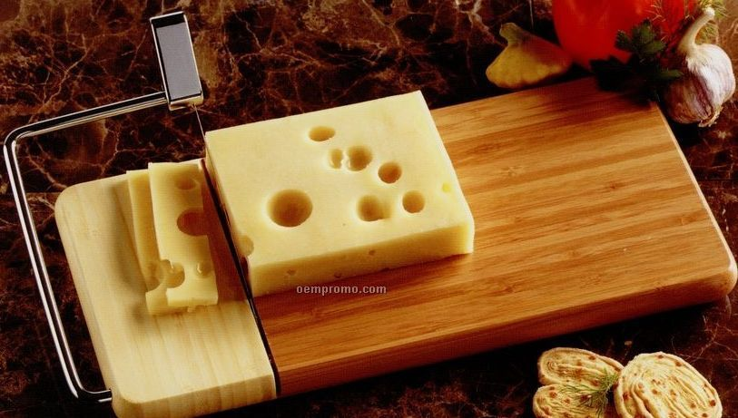 Bamboo Cheese Slicer & Carving Board