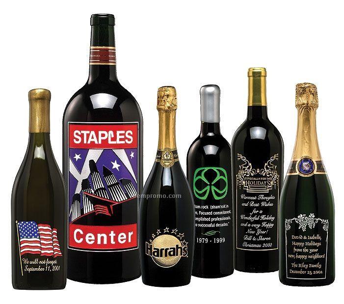 California Coastal Chardonnay Wine (Etched W/ 4 Colors)