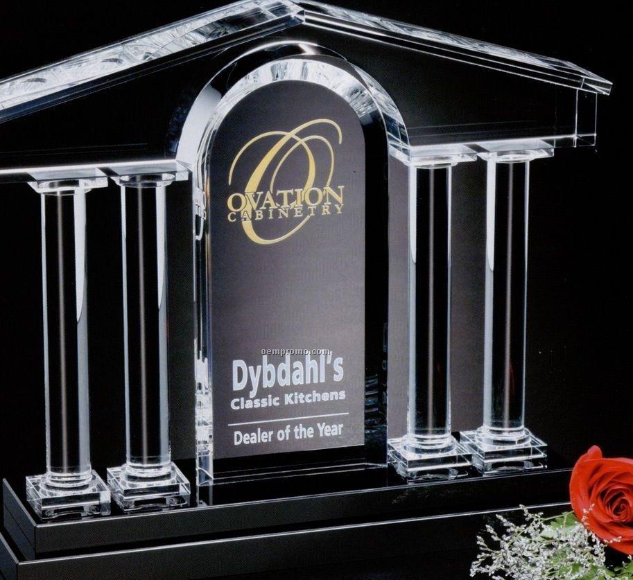"Signature Gallery Crystal Barona Award (11""X9""X3 1/2"")"