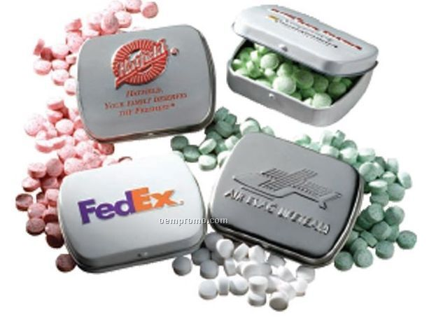 Slalom Empty Embossed Mini Mint Tins