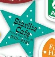 Stock 5 Point Star Magnetic Note Holder (.034 Thick)