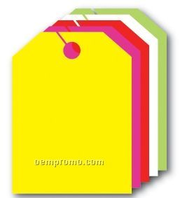 """V-t Fluorescent Mirror Hang Tag - Blank (9""""X12"""")"""