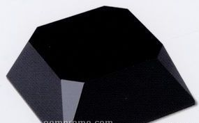 """Black Crystal Beveled 4-sided Slant Base (5""""X5""""X2"""")"""