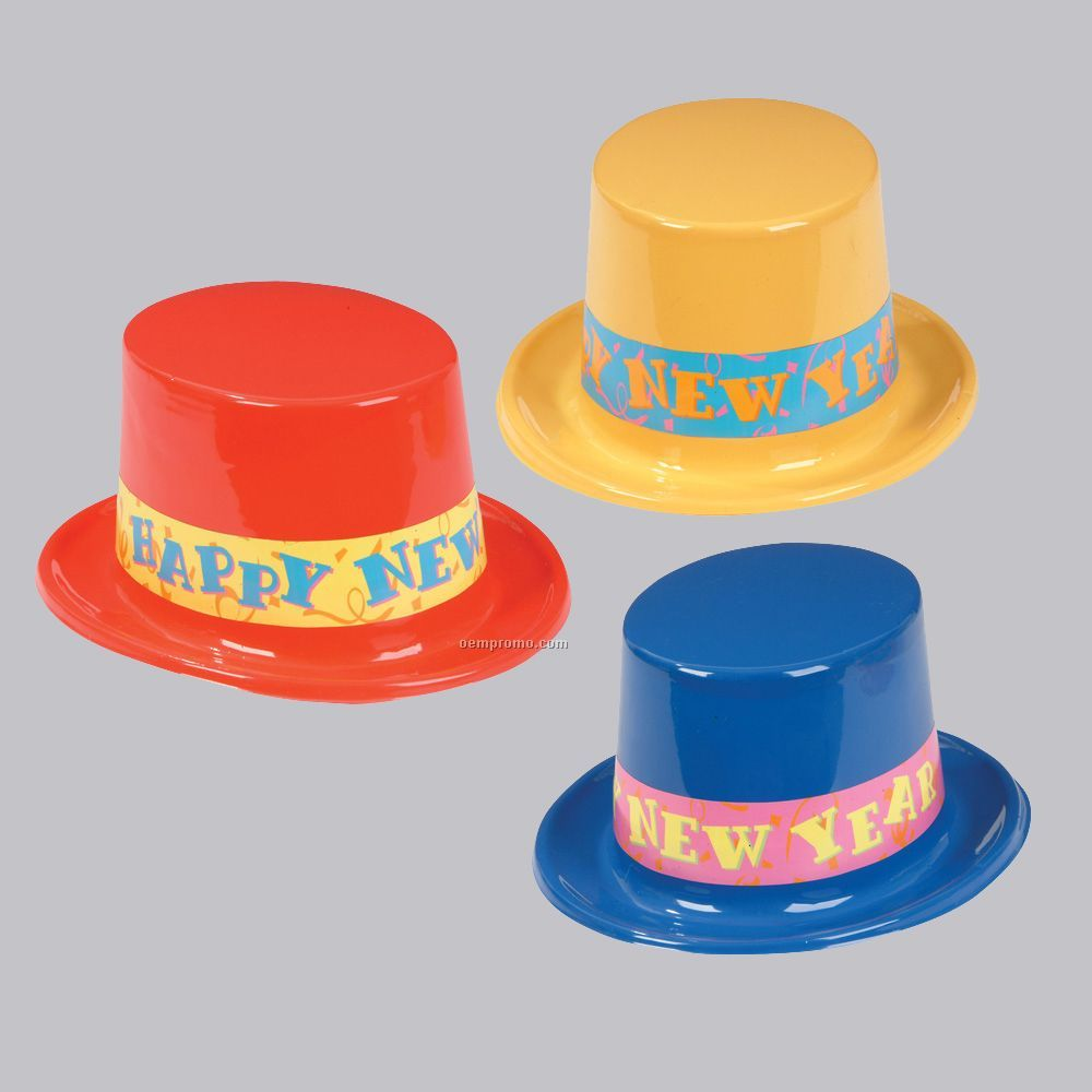 New Year Colored Top Hats