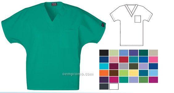 Unisex One Pocket V-neck Tunic