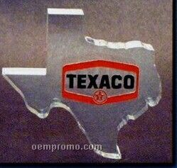 Acrylic Paperweight Up To 16 Square Inches / Texas