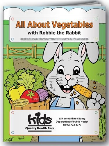 Action Pack Coloring Book W/ Crayons & Sleeve - All About Vegetables