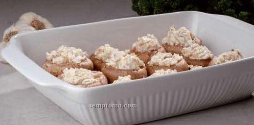 "Bianco Porcelain Rectangular Baker Pan - 11-1/2"""