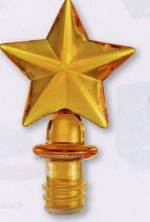 Gold Star Acrylic Bottle Stopper