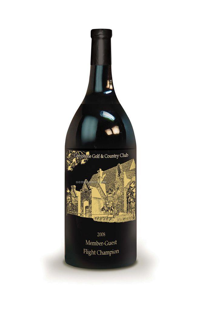 Cabernet / Chardonnay Or Champagne - 1.5 L (1 Color Etched Art)